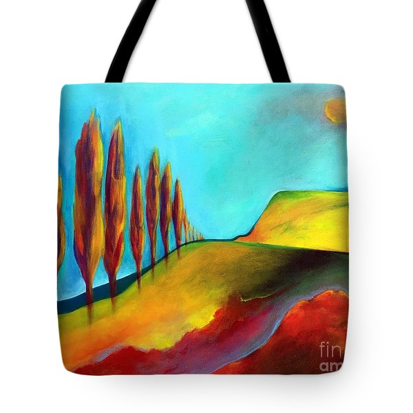 Tuscan Sentinels Tote Bag by Elizabeth Fontaine-Barr