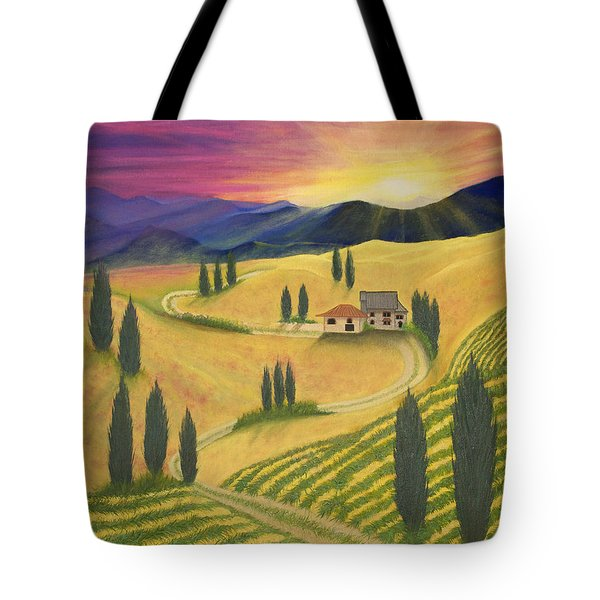 Tuscan Sunset B Tote Bag
