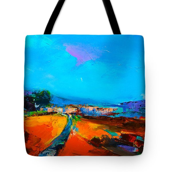 Tuscan Village Tote Bag by Elise Palmigiani