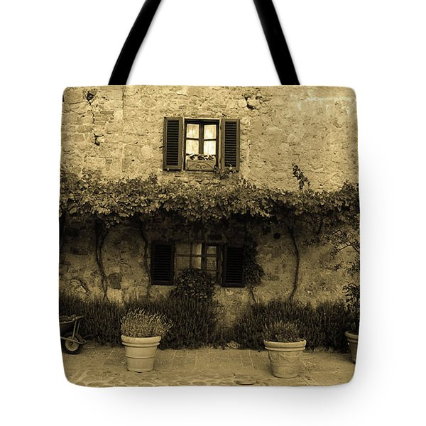 Tote Bag featuring the photograph Tuscan Village by Frank Stallone