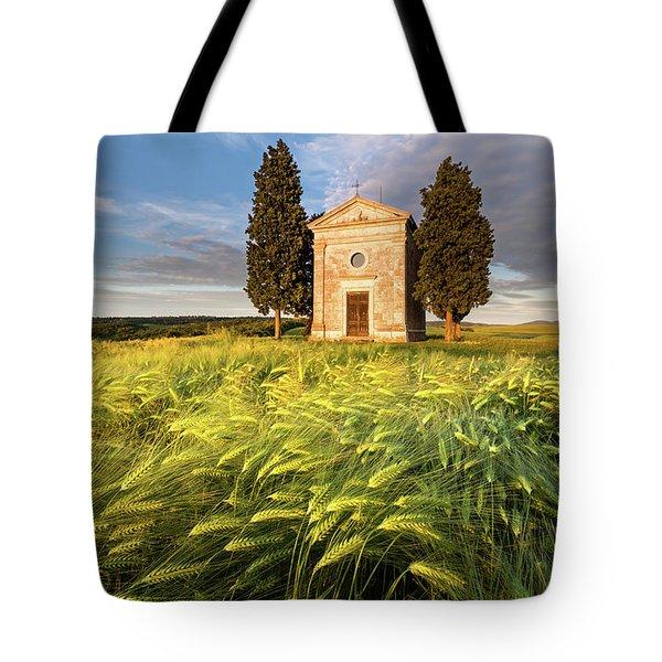 Tuscany Chapel Tote Bag by Evgeni Dinev