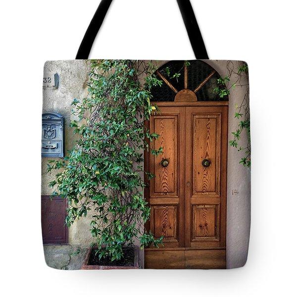 Tuscany Door Tote Bag