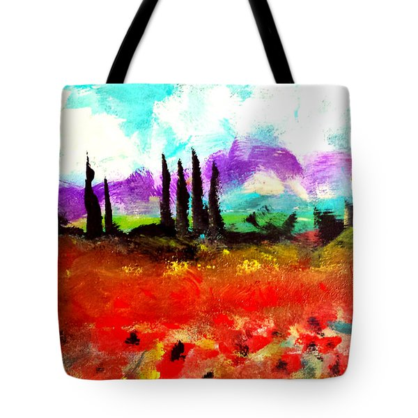 Tuscany Fields Tote Bag