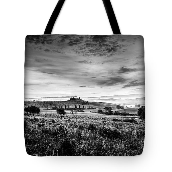 Tuscany In Bw Tote Bag
