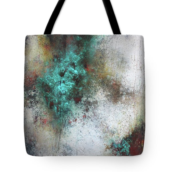 Tuscany Oil And Cold Wax Tote Bag by Patricia Lintner