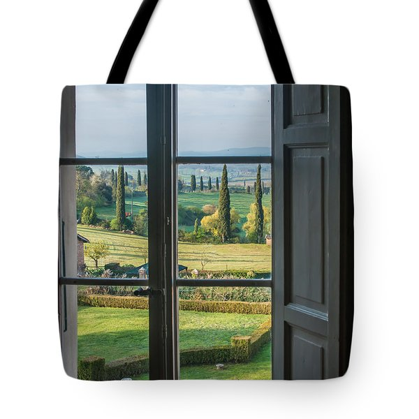 Tuscany Out My Window Tote Bag