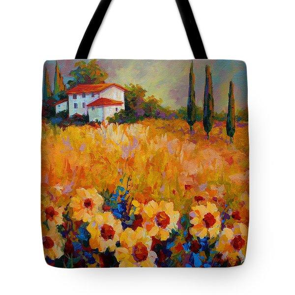 Tuscany Sunflowers Tote Bag