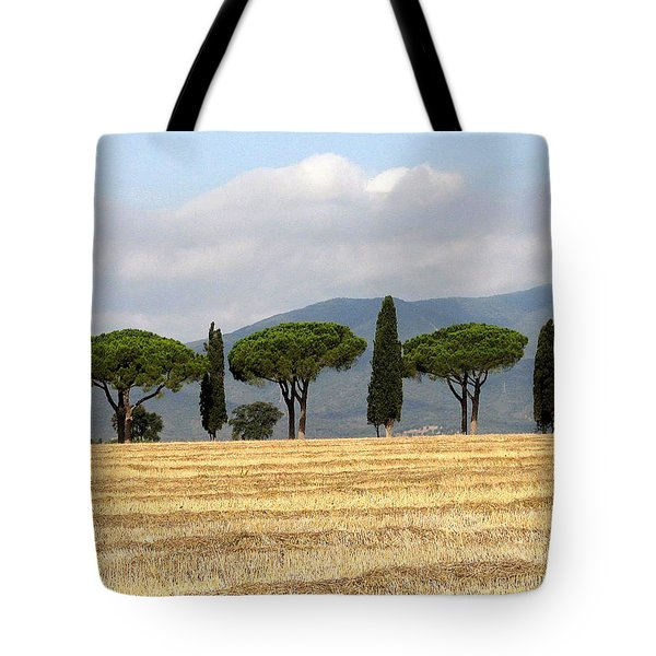 Tote Bag featuring the digital art Tuscany Trees by Julian Perry