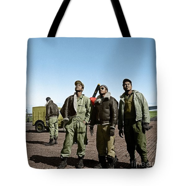 Tote Bag featuring the photograph Tuskegee Airmen by Granger