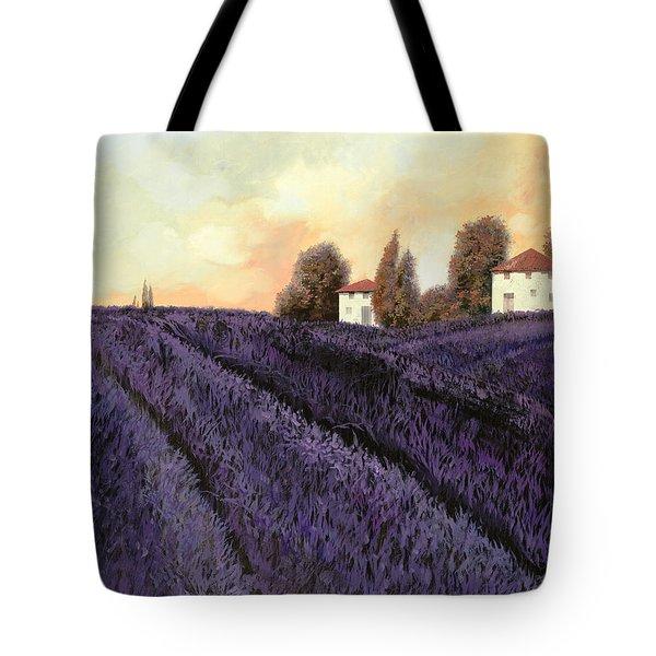 Tutta Lavanda Tote Bag by Guido Borelli