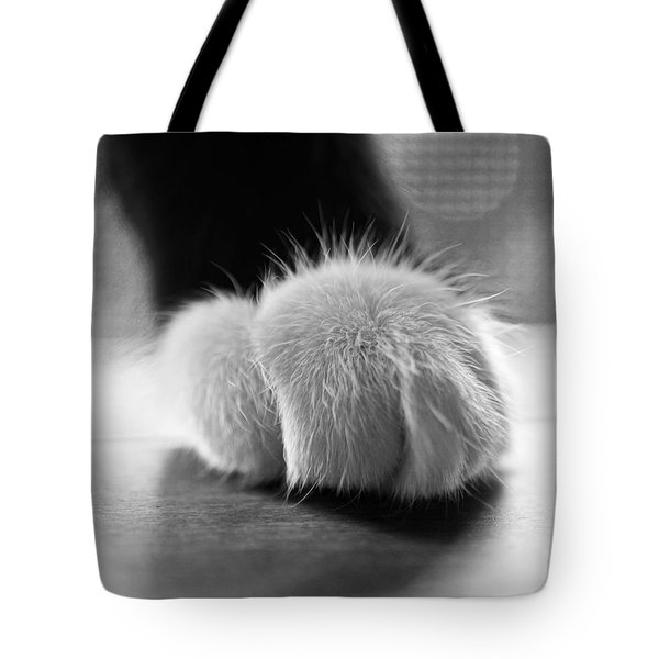 Tuxedo Cat Paw Black And White Tote Bag