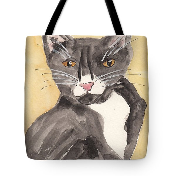 Tuxedo Cat With Attitude Tote Bag