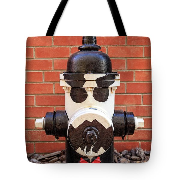 Tote Bag featuring the photograph Tuxedo Hydrant by James Eddy