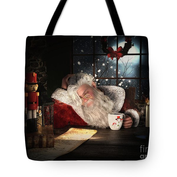 Tote Bag featuring the digital art Twas The Night Before Christmas by Shanina Conway