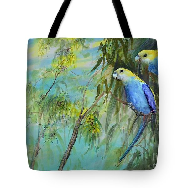 Two Pale-faced Rosellas Tote Bag