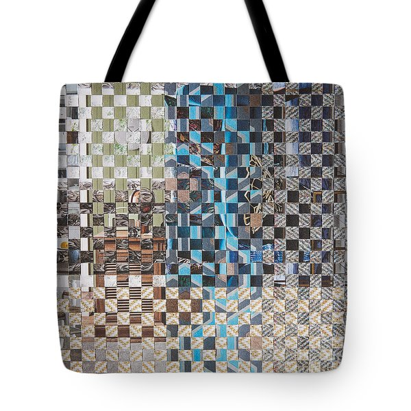 Tote Bag featuring the mixed media Tweed by Jan Bickerton
