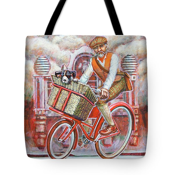 Tweed Runner On Red Pashley Tote Bag