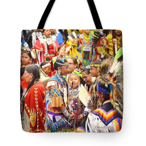 Tweens At Grand Entry Tote Bag by Clarice  Lakota