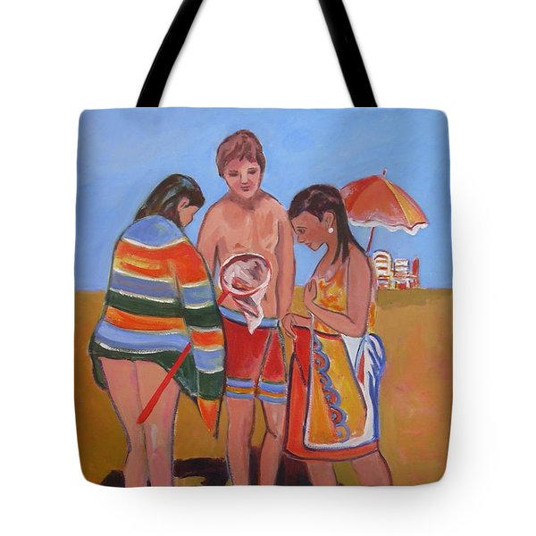 Tweens At The Beach Tote Bag
