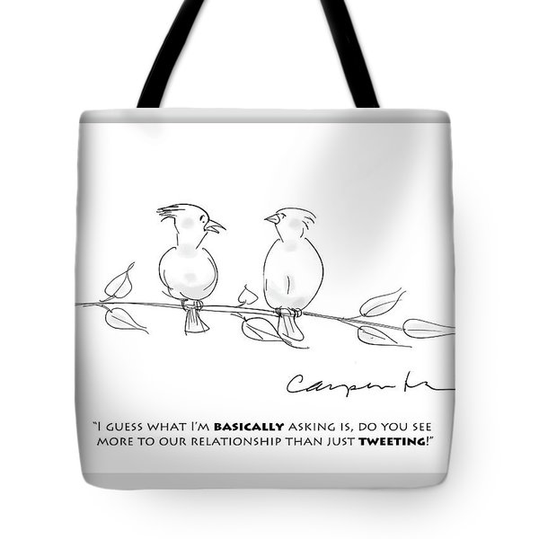 Tweeting Tote Bag