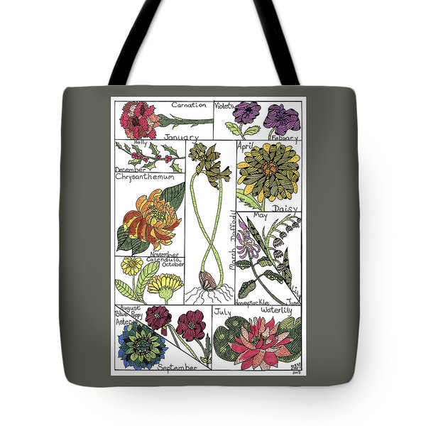 Twelve Month Flower Box Tote Bag