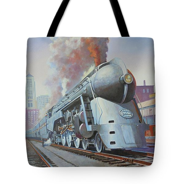 Tote Bag featuring the painting Twenthieth Century Limited by Mike Jeffries