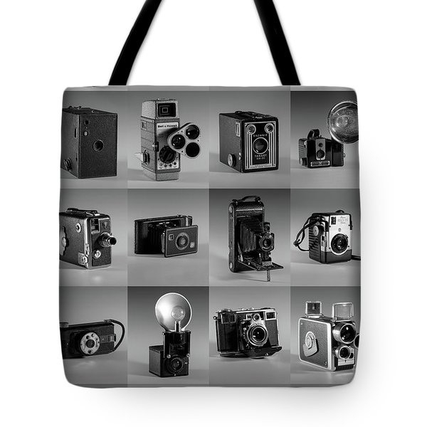 Twenty Old Cameras - Black And White Tote Bag