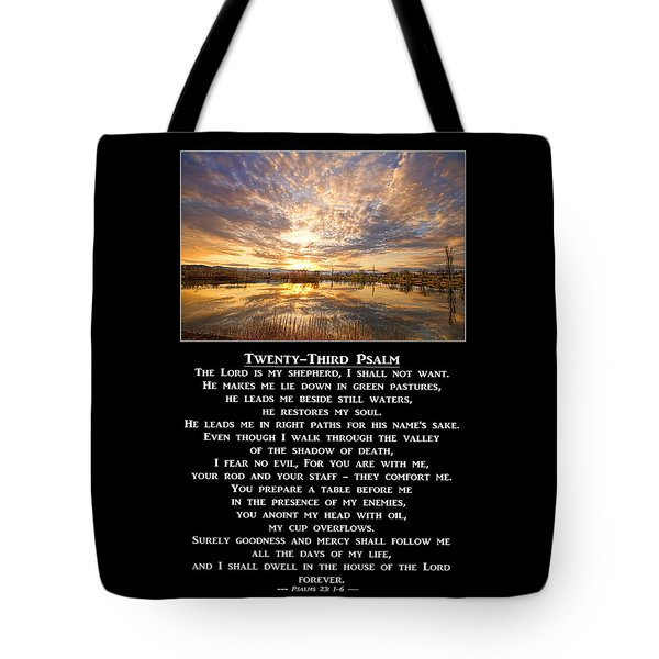 Twenty-third Psalm Prayer Tote Bag by James BO  Insogna