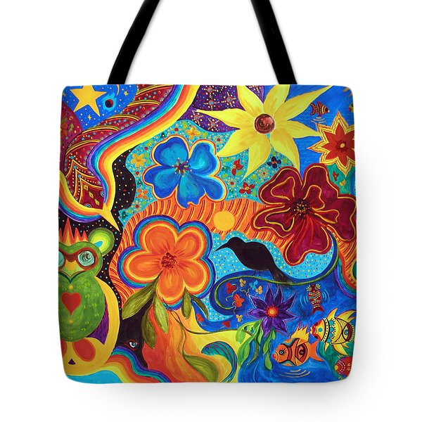 Tote Bag featuring the painting Bluebird Of Happiness by Marina Petro