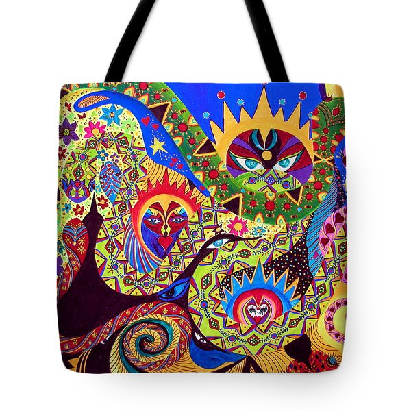 Tote Bag featuring the painting Serpent's Dance by Marina Petro