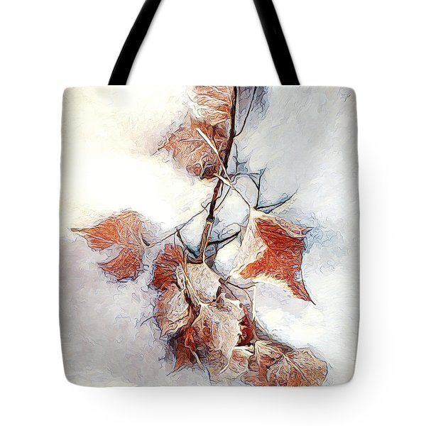 Tote Bag featuring the photograph Twigged by Pennie  McCracken