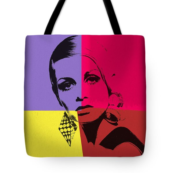 Twiggy Pop Art 1 Tote Bag