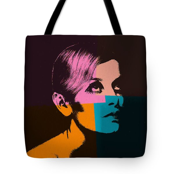 Twiggy Pop Art 2 Tote Bag