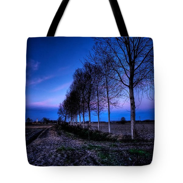 Twilight And Trees Tote Bag