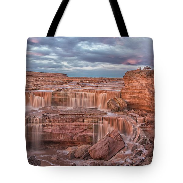 Twilight At Chocolate Falls Tote Bag by Tom Kelly