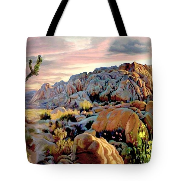 Twilight At Joshua Tote Bag by Ron Chambers