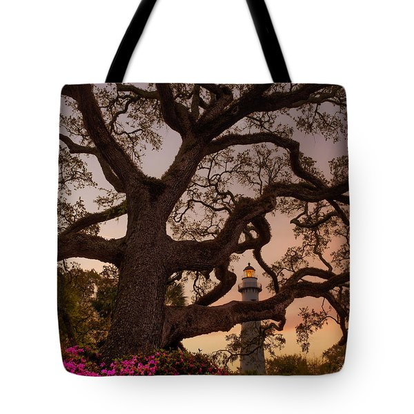 Twilight At St. Simons Lighthouse Tote Bag