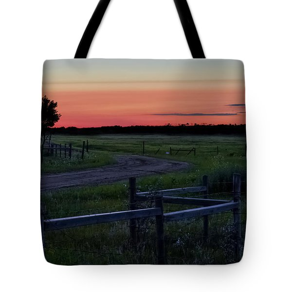 Twilight At The Higgins Farm Tote Bag by Ellery Russell