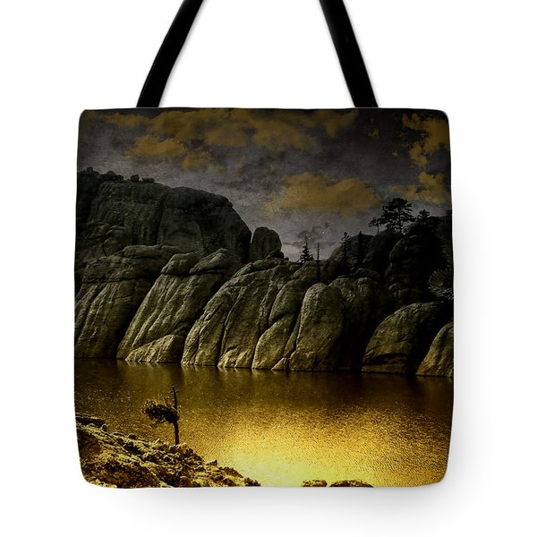 Twilight At The Lake Tote Bag