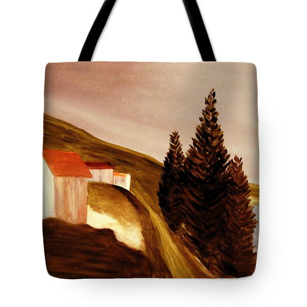 Tote Bag featuring the painting Twilight by Bill OConnor