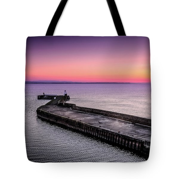 Twilight, Burghead Harbour Tote Bag