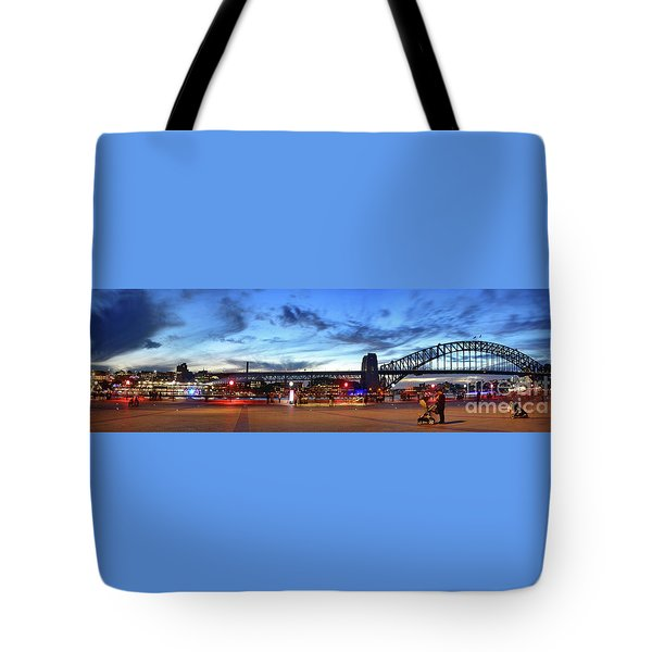 Tote Bag featuring the photograph Twilight By The Bridge By Kaye Menner by Kaye Menner