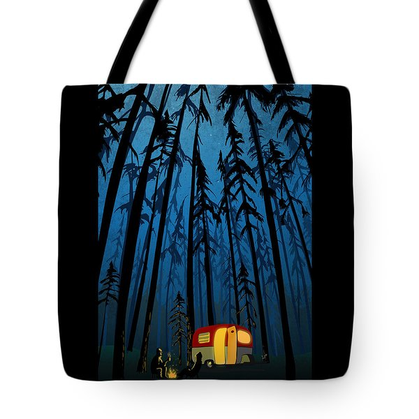 Twilight Camping Tote Bag