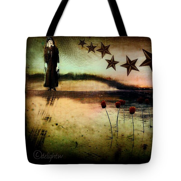 Tote Bag featuring the digital art Twilight by Delight Worthyn