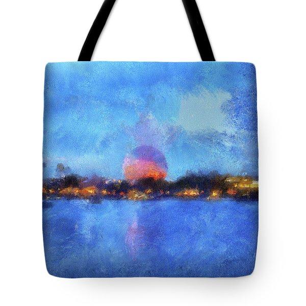 Twilight Epcot World Showcase Lagoon Wdw 02 Photo Art Mp Tote Bag