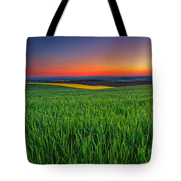 Twilight Fields Tote Bag by Evgeni Dinev