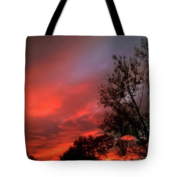 Twilight Fire Tote Bag