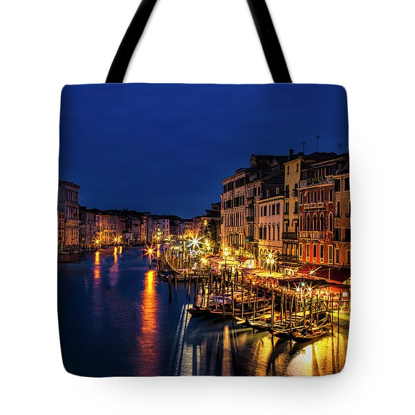 Tote Bag featuring the photograph Twilight From The Rialto Bridge by Andrew Soundarajan