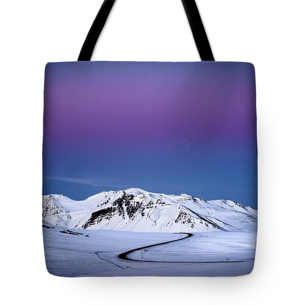 Twilight Glow, Iceland Tote Bag