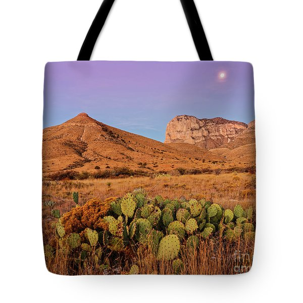 Twilight Glow Of The Chihuahua Desert At Guadalupe Mountains National Park - West Texas Tote Bag